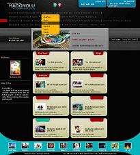 طراحی صفحه داخلی سایت فرمت psd